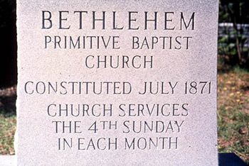 Bethehem Primitive Baptist Church is the site of the 5th Sunday singing in Old Chicora, FL. Photograph by Peggy A. Bulger, State Archives of Florida, Florida Memory, http://floridamemory.com/items/show/119633.