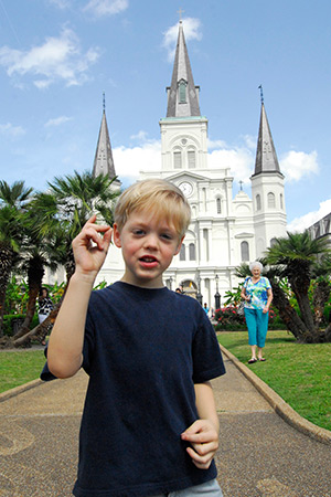 Eli in New Orleans.