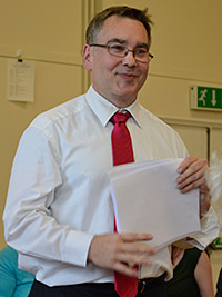 Michael Walker, of London, was the capable chair of the 2012 UK Convention. Photograph by Ewan Paterson.